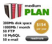 Medium Plan $154/year